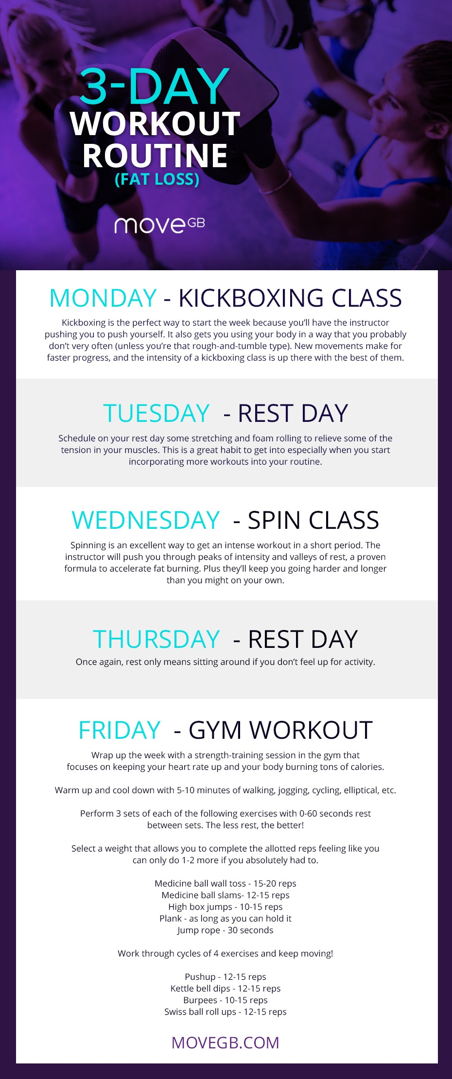 3-Day Workout Routine (Fat Loss)
