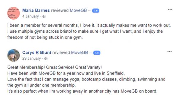 Facebook reviews - MoveGB