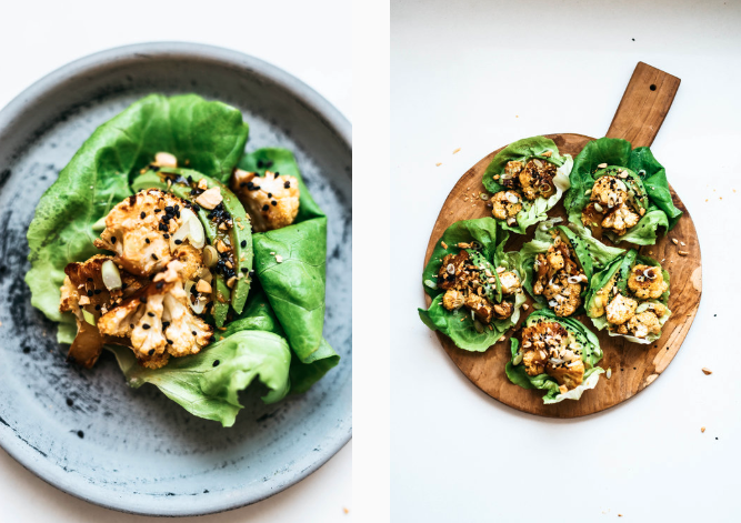 5. Sweet and spicy cauliflower avocado cups