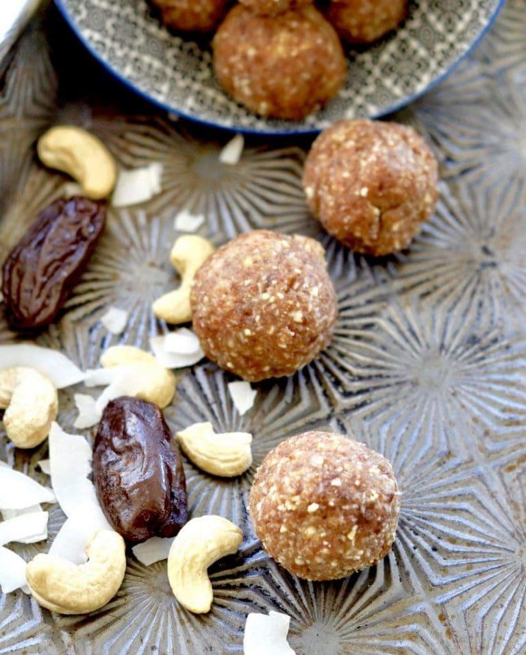 Cashew Coconut Energy Bites