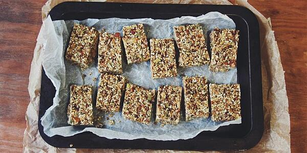 Sweet and Salty Granola Slice