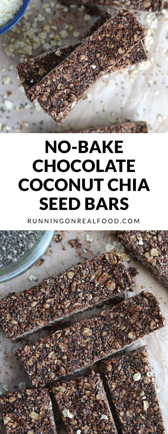 no-bake chocolate and chia seeds bar