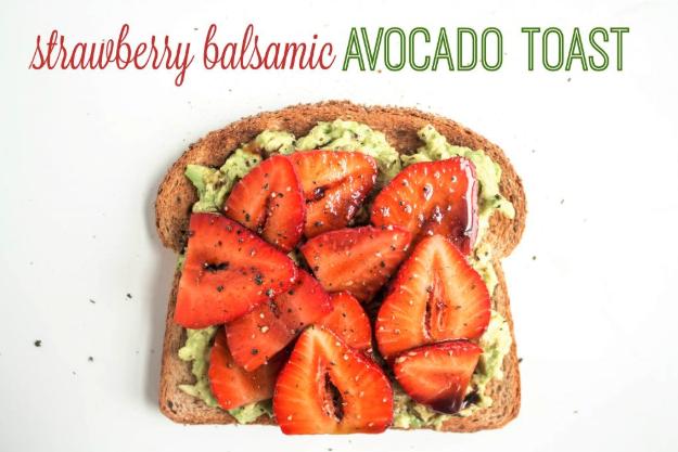 strawberry balsamic avocado toast